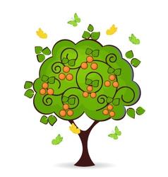 Mandarin tree vector