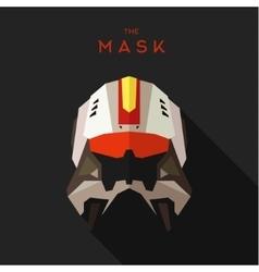 Mask villain into flat style graphics art vector image