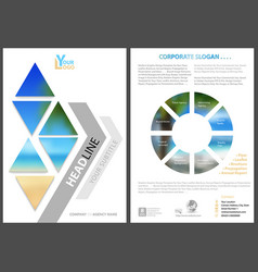 modern flyer template with geometric elements vector image