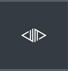 monogram symbol design inspiration vector image