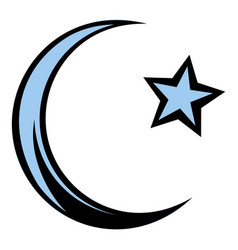 Muslim symbol icon cartoon vector