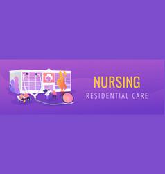 Nursing home concept banner header vector