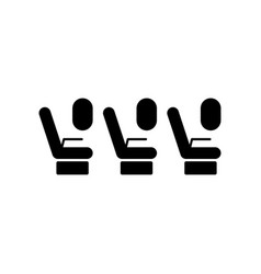 passenger seats in the plane icon element of vector image