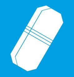pencil eraser icon white vector image