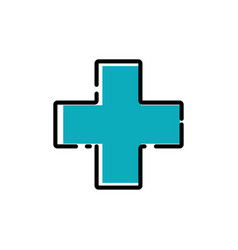 plus sign healthcare icon design template isolated vector image