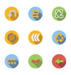 Pointer icons set flat style vector image