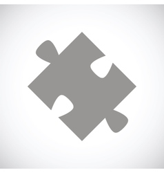 Puzzle black icon vector