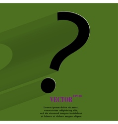 question mark Flat modern web button with long vector image vector image