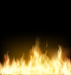Red Fire Stock vector image