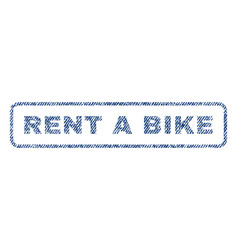 rent a bike textile stamp vector image