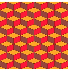 Seamless geometric pattern with geometric shapes vector