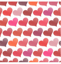 Seamless pattern with red hearts vector