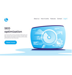 Seo optimization web analytics concept vector