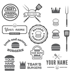 Set logo labels stickers and logotype vector