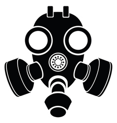 silhouette of gas mask vector image