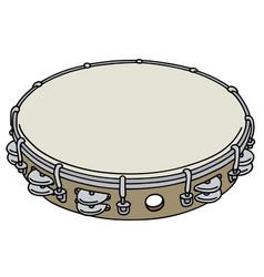 small wooden tambourine vector image