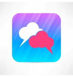 speech cloud icon vector image