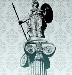 Statue athena vector