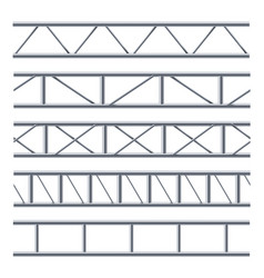Steel truss girder seamless pattern on white vector