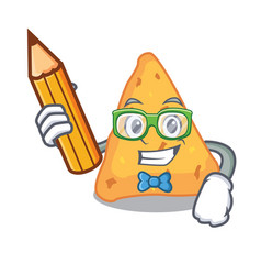 Student nachos character cartoon style vector