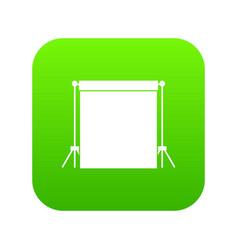 studio backdrop icon digital green vector image