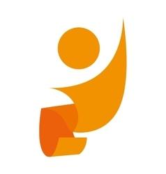 Symbol healthy person design vector