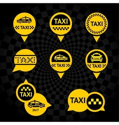 Taxi - Emblems yellow vector image