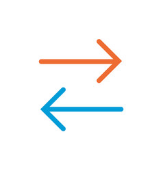 Two ways linear icon two ways concept symbol vector