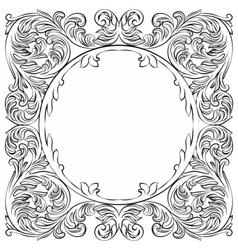 Vintage Imperial Baroque Round frame vector
