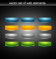 web button set of tweleve vector image
