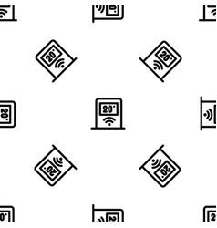 Wifi temperature control pattern seamless vector