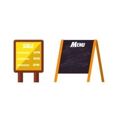 Advertisement billboard template vector image