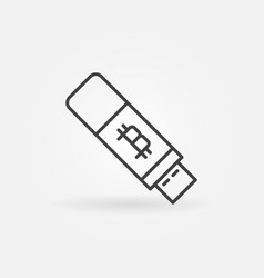 bitcoin usb flash icon - cryptocurrency key vector image vector image