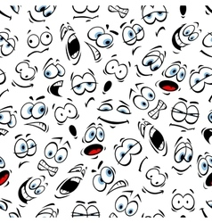 Emoticons pattern of human face emotions vector image vector image