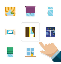 Flat icon frame set of cloud clean frame and vector