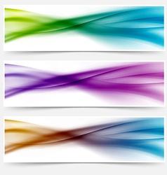 Liquid swoosh lines web headers or footers vector image vector image