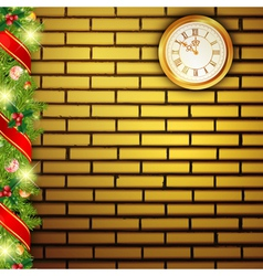 new year brick wall vector image vector image
