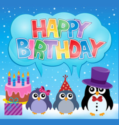 party penguin theme image 7 vector image