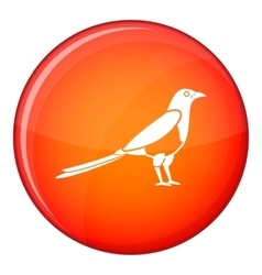 Bird magpie icon flat style vector image