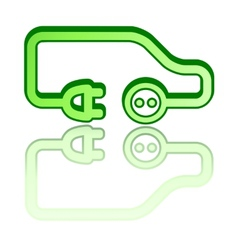 green electrical vehicle car vector image vector image