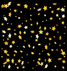 luxury black background with gold 3d stars vector image