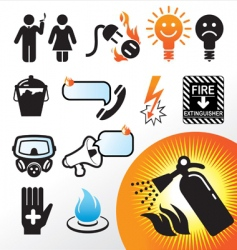 symbol extinguisher vector image vector image