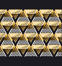 triangle shape geometric art deco seamless pattern vector image