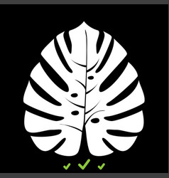 tropical leaf it is white icon vector image vector image