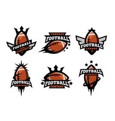 american football set of logos vector image vector image
