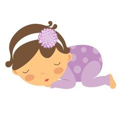 baby girl sleeping vector image