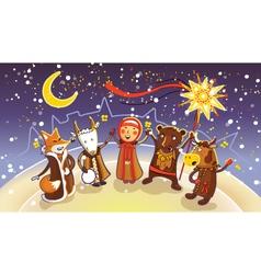 Celebration of winter holiday Kalyadi vector image vector image