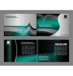 empty bi-fold brochure print template vector image vector image