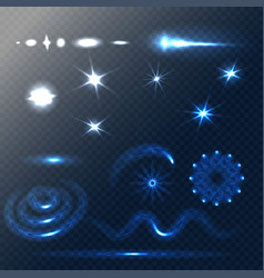 set of stars and sparkles effects for design vector image vector image