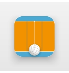 Square icon of volleyball sport vector image vector image